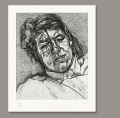 Lucian Freud - Bella 1987 (Etching on BFK Rives White paper) Painter, Portraiture, Lucian Freud, Life Drawing, A Level Art, Poster Art, Art, Lucian Freud Portraits, Etching