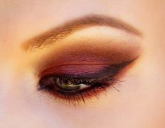 30 Photos of The Best Fall Makeup Trends, Ideas and Tutorials; This eye reminds me of a sunset...