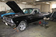 1962 Ford Ranchero in for reaer end work and a few small repairs.