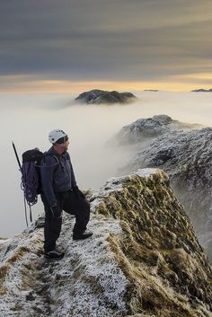 An amazing morning on the Aonach Eagach Ridge, Scotland