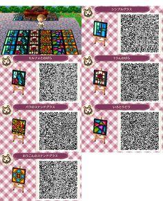 qr animal crossing floor - Búsqueda de Google Animal Crossing 3ds, Animal Crossing Qr Codes Clothes, Cross Patterns, Floor Patterns, Acnl Qr Code Sol, Flag Code, Stained Glass Cookies, Motif Acnl, Code Wallpaper