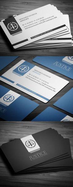 Creative Lawyer Business Card #businesscards #printready #psdtemplates