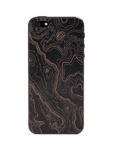 Lazerwood - Topo Black iPhone 5 Cover