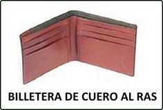 Molde básico completo en PDF de una Billetera de Cuero, con varios compartimientos, haz click en la FOTO para DESCARGAR GRATIS !!