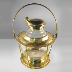 """""""Fore and Aft"""" Ship's Lantern Cocktail Shaker"""