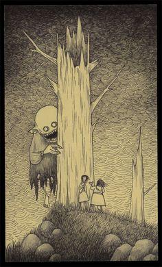 John vous emmène dans ses étranges cauchemars d'enfance qu'il dessine sur des…