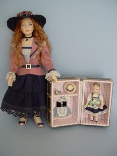 HELLO DOLLY:   Helen with her Heidi Doll-trunk