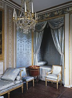 The bedroom in Gustav III's Pavilion at Haga, Sweden: Gustavian Classicism
