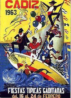Cartel Carnaval de Cadiz año 1963