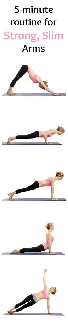 A 5-Minute Yoga Routine for Strong, Slim Arms.