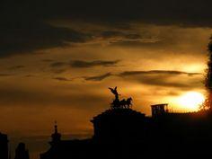 Sun burning the Rome skyline #sunset #rome #italy #rtw #travel