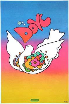 Peter Max 1968 Many many hours spent making Peter Max inspired doves and drawings for my friends as a teen! Milton Glaser, Pop Art, Jasper Johns, Wayne Thiebaud, Robert Rauschenberg, Herb Lubalin, Keith Haring, Andy Warhol, Peter Max Art