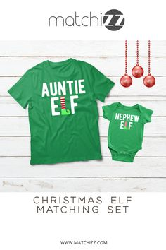 Aunt and Nephew Elf Christmas Gifts Aunt and Nephew Shirt Aunt and Me Aunt and Baby Matching Auntie Elf Nephew Elf Funny Christmas Shirt - Elf Shirts - Ideas of Elf Shirts - Aunt and Nephew Elf Christmas Gifts aunt and Matching shirts Aunt And Niece Shirts, Nephew And Aunt, Daddy And Son, Funny Christmas Shirts, Christmas Gift For Dad, Christmas Elf, Christmas Outfits, Christmas Ideas, Christmas Decorations