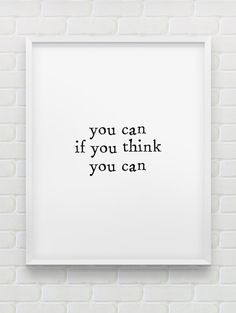 you can if you think you can print