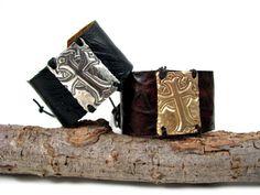 Lulu Luxuries  - DeAnna Cochran Ornate Cross Cuff in Bronze, $124.00 (http://www.lululuxuries.com/deanna-cochran-ornate-cross-cuff-in-bronze/)