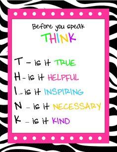 True! Everyone including myself needs to do this more!