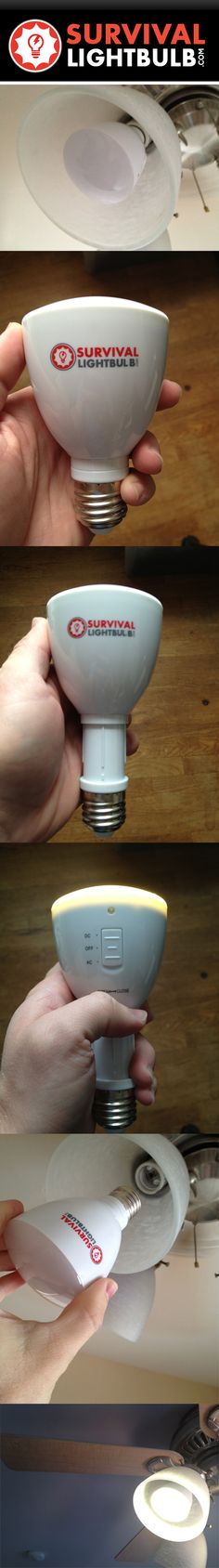 40,000 Hour LED Survival Lightbulb that doubles as a flashlight.