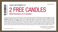 Pinned September 26th: 4-for-2 at Yankee #Candle, or online via promo code 4FALL #coupon via The #Coupons App