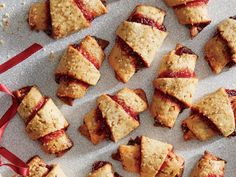 You can switch out the cherry preserves and dried cherries for another fruit that comes in both spread and dried form, such as apricot, currant, or blueberry.   ​Pretty Packaging: These rustic cookies can handle a more rustic approach to wrapping. Carefully place the cookies into a cellophane bag, then drop inside a burlap bag; cinch with a ribbon.​               View Recipe: Cherry and Pistachio Rugelach