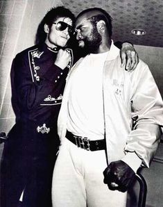 Michael Jackson hanging out with Mr. T