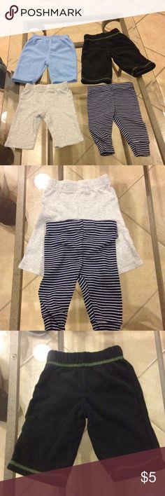 Bundle 3 months (4) Carter pants 3 months bundle (4) Carters pants (2) cotton (2) fleece good condition Carter's Other