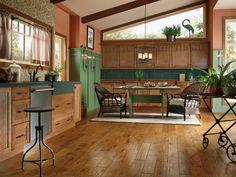 Painted hardwood floors in kitchen #305