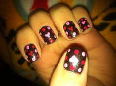 Dots and heart nails
