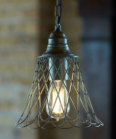 Another great find on #zulily! Gray Scalloped Pendant Light #zulilyfinds