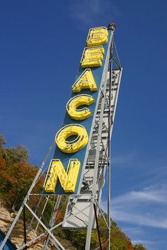 Beacon Motel sign, Pacific, Missouri  ~ now the Beacon Car Wash, but the old neon sign has been retained