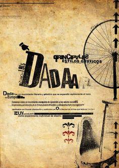 Afiche Dada von Magdalena Lanusse, via Behance - Graphic Design Branding, Graphic Design Posters, Graphic Design Inspiration, Kurt Schwitters, Dada Collage, Collage Artwork, Typographic Poster, Typography, Dadaism Art