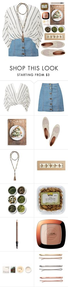 """""""#849 Léonora"""" by blueberrylexie ❤ liked on Polyvore featuring Free People, Boohoo, PHAIDON, Rebecca Minkoff, Calypso St. Barth, Tea Collection, Shiseido, L'Oréal Paris, Korres and Madewell"""