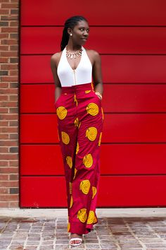 prissyville-african-print-pant ~African fashion, Ankara, kitenge, Kente, African prints, Senegal fashion, Kenya fashion, Nigerian fashion, Ghanaian fashion ~DKK