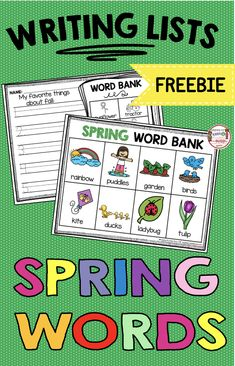 KINDERGARTEN spring april lists for centers and word wall How to write a list writing activities Easter bunny Spring picture word banks scaffolding free printables worksheets prek preschool literacy centers reading centers writing activities free Writing Center Kindergarten, Kindergarten Units, Kindergarten Freebies, Kindergarten Literacy, Montessori Elementary, Elementary Teacher, Writing Lists, Writing Words, Writing Activities