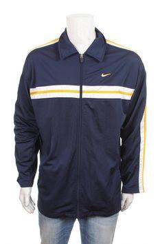 c2fc2a8bf4431e Vintage Nike Swoosh Windbreaker 1 4 zip Pullover jacket Yellow black white  Size M