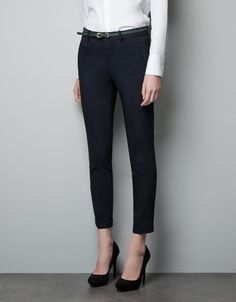 @Ashlyn Polk CAPRI PANTS - Trousers - Woman - ZARA United States