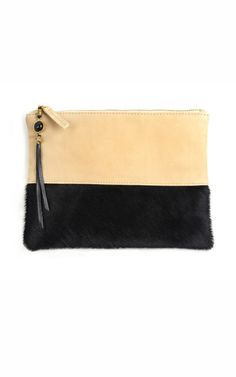 Lizzie Fortunato Black Front Row Clutch - the tassle makes it stand out from the crowd #handbags #bags