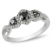 Very pretty.  Love black diamonds with silver