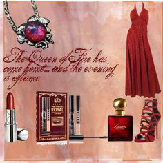 The Queen of Fire by the-aria-soto on Polyvore featuring Giuseppe Zanotti, By Terry, LORAC, Ralph Lauren, Sexy and royalty