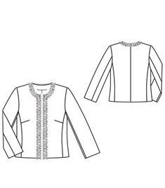 Chanel Style Jacket 03/2012 #109 from BurdaStyle http://www.burdastyle.com/pattern_store/patterns/chanel-style-jacket-032012#