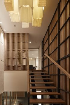 Image 4 of 17 from gallery of PIER THIRTY Group's Western Japan HQ Building / Yoshihiro Kato Atelier. Photograph by Nacasa & Partners inc. Vertical, Kato, Stairways, Second Floor, Modern Architecture, Facade, Flooring, Gallery, Building