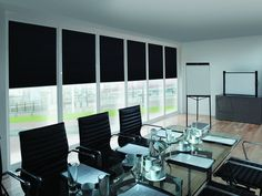 Blinds for boardrooms, meeting rooms, commercial premises and offices in Norfolk, Cambridge and Suffolk borders. Made to Measure quality blinds. Made in Norfolk. 5 year guarantee.