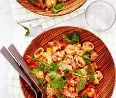 Recept: Tonfiskpasta med majs och tomat