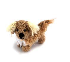 $36.86 Crochet Golden Retriever, miniature dog, #amigurumi #pet, tiny softy puppy, little collectible dog, gift for dog owners, retriever dog, small #cutengift by crochAndi