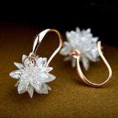 Crystal Flower Earrings -  #earrings #cute #aesthetic #style #fashion #chic #trendy #love #jewelry #gold #crystal
