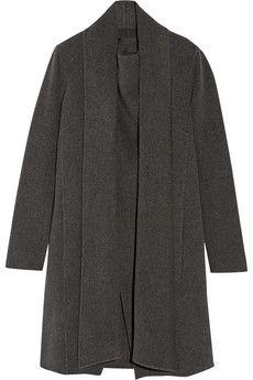 Donna Karan New York Draped cashmere coat   NET-A-PORTER