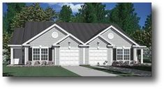 Multi-Family Plan 62349 with 6 Bed, 4 Bath, 4 Car Garage Garage House Plans, House Plans One Story, One Story Homes, Ranch House Plans, Bedroom House Plans, New House Plans, Story House, Cottage Style House Plans, Cottage Style Homes