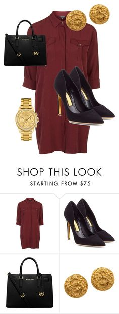 """""""it dont matter ✊"""" by qveenmedinaa ❤ liked on Polyvore featuring Topshop, Rupert Sanderson, MICHAEL Michael Kors, Chanel and Lacoste"""
