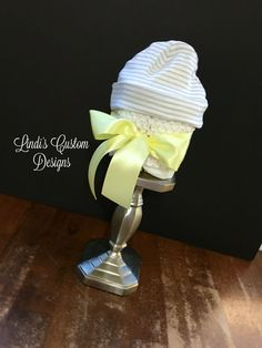 Gender Neutral Mini Diaper Cupcake Gift or Table Centerpiece