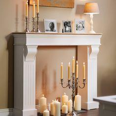 CANDELA asztali lámpa bézs 20x20x41cm Candles In Fireplace, Decor, Diy Fireplace, Faux Fireplace Diy, Interior, Farmhouse Christmas Decor, Fireplace Mantel Decor, Faux Fireplace, Fireplace
