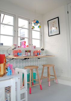 Cool Playroom! #kids #room #bedroom #color